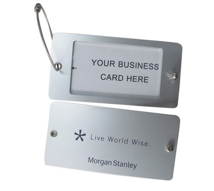 luggage tag with custom logo, stainless steel luggage tag