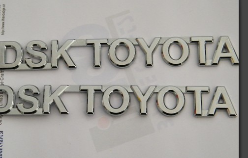 chromed car badges emblems,custom plastic car auto logo label sticker