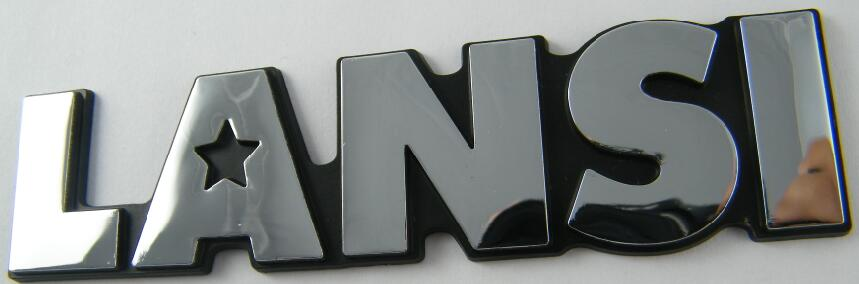 ABS car logo,plastic car emblem,auto brand logo sticker,chrome car body badge
