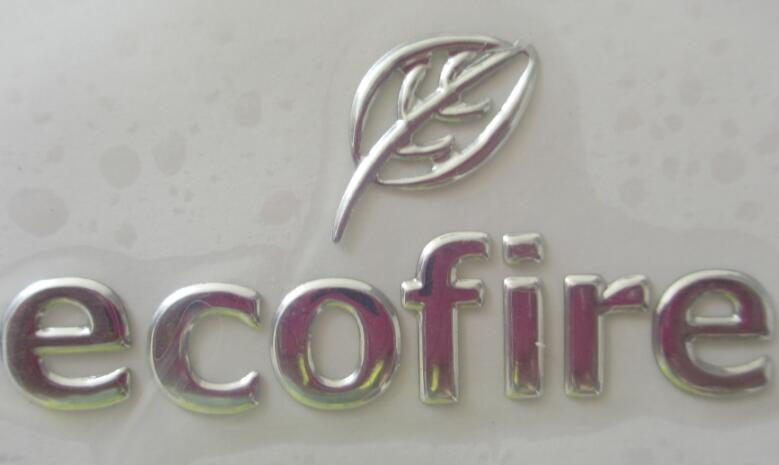 3D soft sticker, adhesive logo, name plate, silver chrome sign