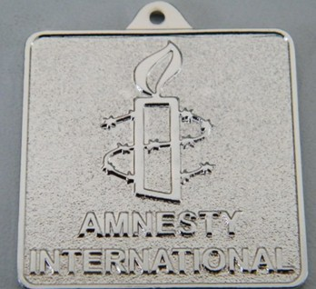 zinc alloy embossed badge